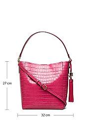 Lauren Ralph Lauren - Medium Adley Shoulder Bag - bucket-tasker - ruby - 5