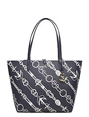 Faux-Leather Reversible Tote - ANCHORED ROPES/LA