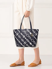 Lauren Ralph Lauren - Faux-Leather Reversible Tote - torby na zakupy - anchored ropes/la - 0