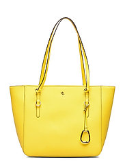 Leather Medium Shopper - CANARY YELLOW