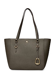 Leather Medium Shopper - DEEP OLIVE