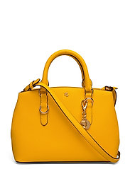Saffiano Leather Mini Satchel - CANARY YELLOW