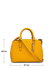 Lauren Ralph Lauren - Saffiano Leather Mini Satchel - top handle - canary yellow - 5