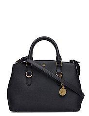 Saffiano Leather Mini Satchel - LAUREN NAVY