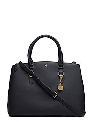 Leather Double-Zip Satchel - LAUREN NAVY
