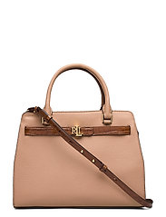 Leather Medium Fenwick Satchel - NUDE/DEEP SADDLE