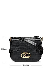 Lauren Ralph Lauren - Embossed Leather Medium Addie Crossbody - crossbody bags - black - 5
