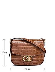 Lauren Ralph Lauren - Embossed Leather Medium Addie Crossbody - crossbody bags - deep saddle tan - 5