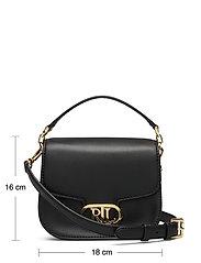 Lauren Ralph Lauren - Vegan Leather Small Addie Crossbody - crossbody bags - black - 5