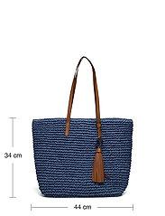 Lauren Ralph Lauren - Crochet-Straw Medium Whitney Tote - shoppere - medium blue/laure - 5