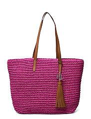 Crochet-Straw Medium Whitney Tote - NOUVEAU BRIGHT PI
