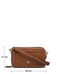Lauren Ralph Lauren - Crosshatch Leather Danna Crossbody - crossbody bags - lauren tan - 4
