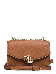 Small Leather Madison Crossbody Bag - LAUREN TAN