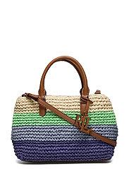 Crochet-Straw Mini Marcy II Satchel - COOL STRIPE/LAURE
