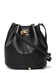Leather Medium Andie Drawstring Bag - BLACK
