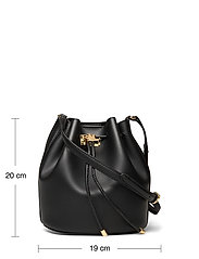 Lauren Ralph Lauren - Leather Medium Andie Drawstring Bag - bucketväskor - black - 5