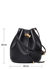 Lauren Ralph Lauren - Leather Medium Andie Drawstring Bag - bucket-laukut - lauren navy - 5