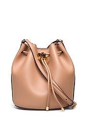 Leather Medium Andie Drawstring Bag - NUDE