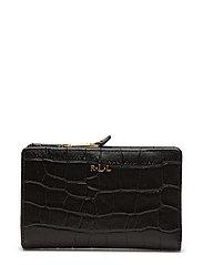 Soft Faux Crocodile Wallet  - BLACK