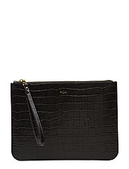 Embossed Newbury Pouch - BLACK