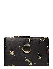 Floral Leather Wallet - BLACK VINTAGE FLO