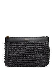 Crochet Large Wristlet - BLACK