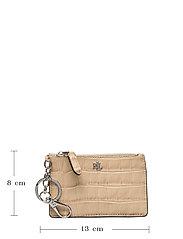 Lauren Ralph Lauren - Embossed Leather Zip Card Case - kortholdere - dune tan - 4