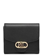 Vegan Leather Compact Wallet - BLACK