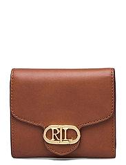 Vegan Leather Compact Wallet - LAUREN TAN