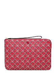 Heritage Vegan Leather Large Pouch - CANDY RED HERITAG
