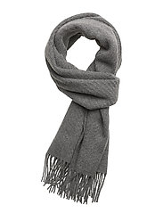 CASHMERE-LUXURYSOLID WRAP - MED GREY HTHR