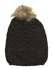 ACRYLIC-ENGINEERED CABLE HAT - BLACK