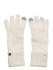 NYLON-LAUREN KNIT GLOVE - IVORY