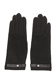 WOOL-LOGO TOUCH GLOVE - BLACK