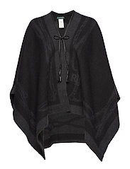 ACRYLIC-BRIDLE CAPE - BLACK/CHARCOAL