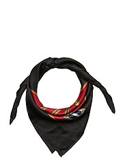 Natalie Silk Twill Scarf - LACQUER RED