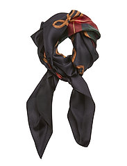 Nina Silk Twill Scarf - LACQUER RED