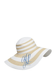 STRAW-STRIPED SUNHAT - NATURAL/ WHITE
