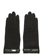 Wool-Blend Tech Gloves - BLACK