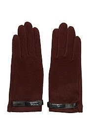 Wool-Blend Tech Gloves - OXBLOOD