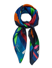 Caren Square Silk Twill Scarf - HOLIDAY NAVY