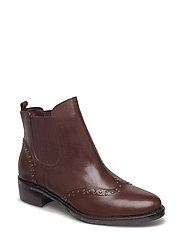 Cathi Calfskin Chelsea Boot - BURNISHED BROWN