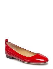 Glenna Leather Flat - TOMATO RED
