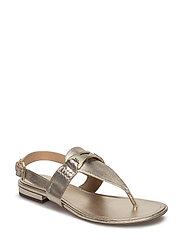 Dayna Metallic Thong Sandal - PLATINO