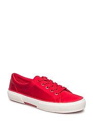 Satin Jolie Sneaker - TOMATO RED