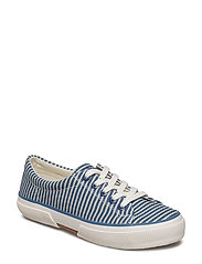 Jolie Striped Canvas Sneaker - BLUE