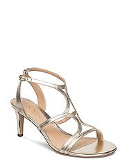 Gilah Metallic Leather Sandal - PLATINO