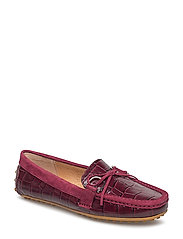 Leather Loafer - MERLOT/MERLOT