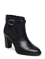 Laletta Leather Bootie - BLACK