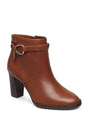 Laletta Leather Bootie - DEEP SADDLE TAN